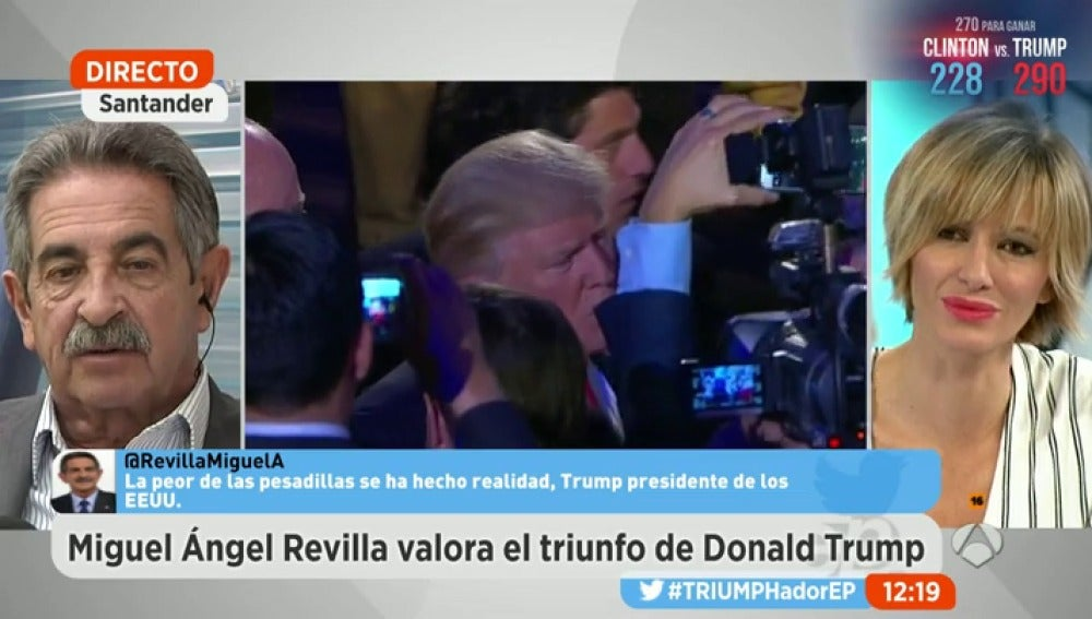 """Frame 16.87315 de: Miguel Ángel Revilla: """"Lo que viene es terrorífico, a Trump le van a salir imitadores"""""""