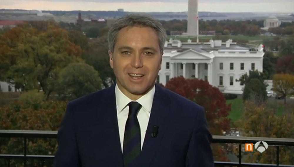Frame 30.1056 de: Vicente Vallés agradece desde Washington, donde se encuentra cubriendo las elecciones de EEUU, su Ondas a Mejor Presentador
