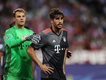 Javi Martínez, en un partido del Bayern Múnich