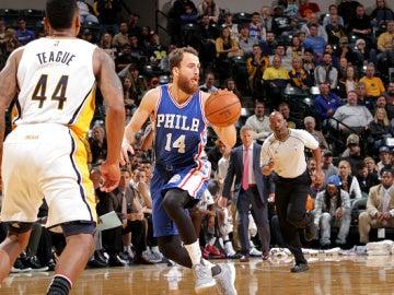 Sergio Rodríguez, en acción ante Indiana Pacers