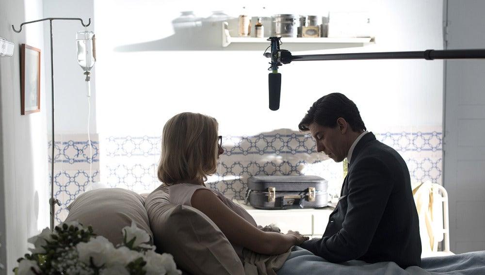 Cecilia Freire y Adrián Lastra, preparados para una escena difícil