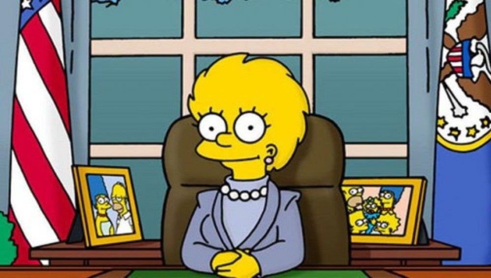 Lisa, primera presidenta de EE.UU. y sucesora de Donald Trump