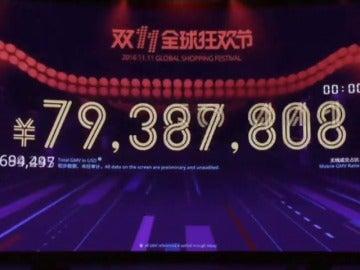 Frame 7.082505 de: Alibaba comienza el 'Día del Soltero' con ventas por valor de 4.800 millones de euros en la primera hora de descuentos masivos