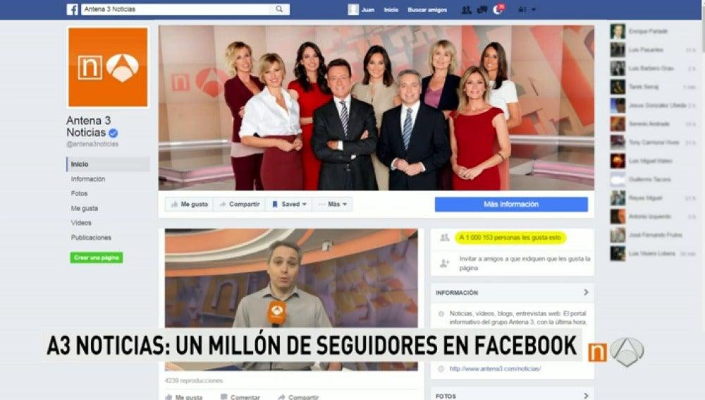 Frame 3.158206 de: Antena 3 Noticias alcanza el millón de seguidores en su cuenta de Facebook