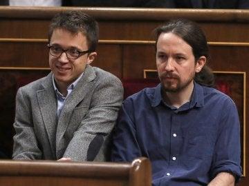 Iñigo Errejón y Pablo Iglesias