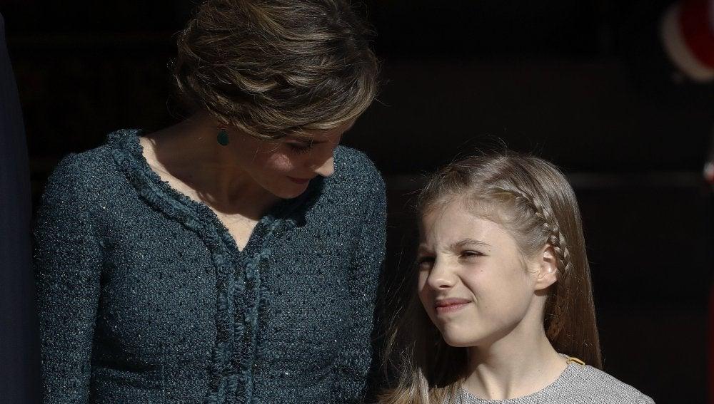 La reina Letizia junto a su hija Sofía