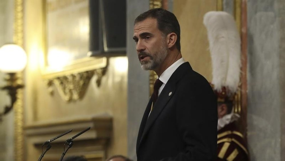El Rey Felipe VI durante su discurso