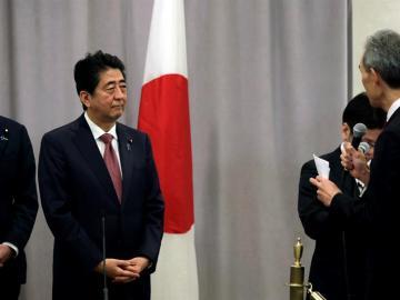 El primer ministro japonés, tras su reunión con Trump