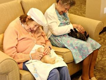 Ancianos de una residencia