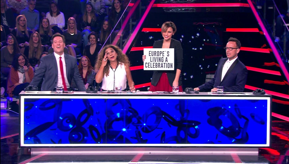 La versión nunca vista de 'Europe's living a celebration' según el jurado de 'Tu cara me suena'