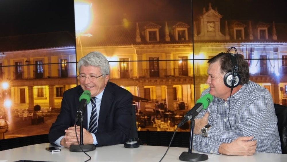 Enrique Cerezo y José Antonio Camacho, en El Transistor de Onda Cero