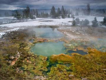 Aguas termales en Yellowstone