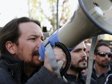 Pablo Iglesias en la marcha