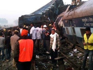 Accidente ferroviario en la India