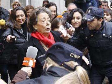Rita Barberá a la salida del Tribunal Supremo
