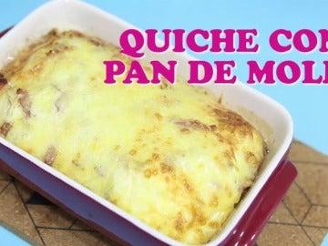 Frame 4.661578 de: Cocina una quiche con rebanas de pan de molde