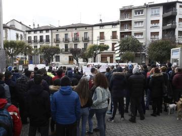 Manifestación en apoyo de los detenidos en Alsasua