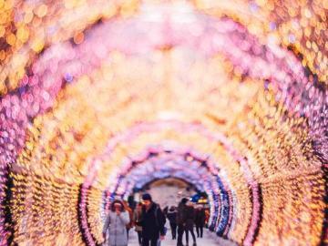 Túnel de luces en Norwich