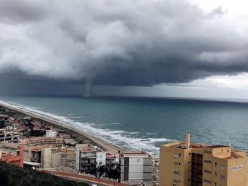 Tromba marina en Valencia