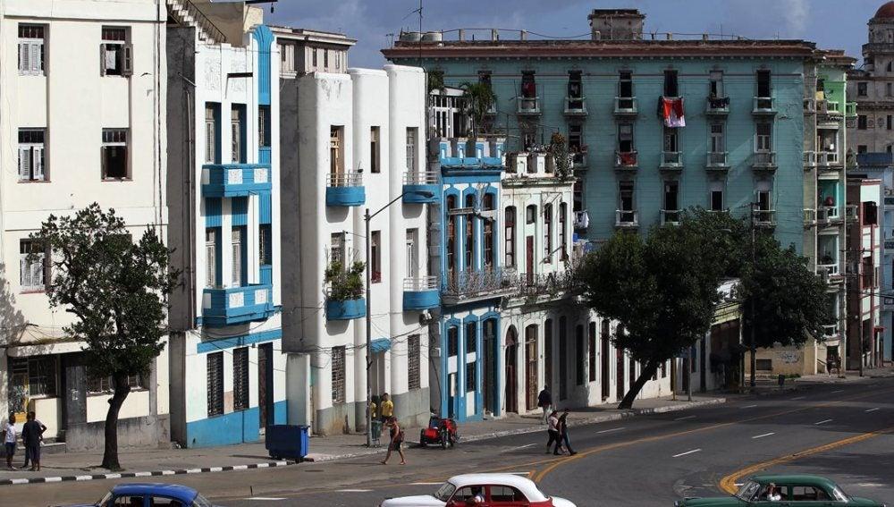 Vista general de una avenida de La Habana