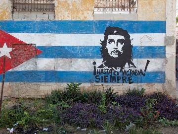 Mural de Che Guevara en Cuba