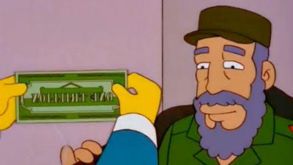 El día en que 'Los Simpson' llegaron a un trato con Fidel Castrol
