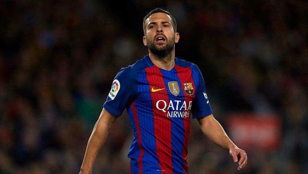 Jordi Alba, en un partido del Barcelona