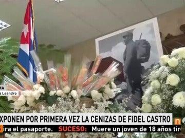 Frame 58.0663 de: Las cenizas de Fidel reposan en la sala Granma del Ministerio de las FAR