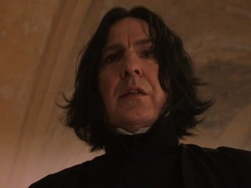 Alan Rickman interpretando a Snape en 'Harry Potter'