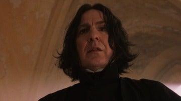Alan Rickman interpretando a Snape en 'Harry Potter'