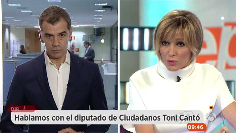 Toni Cantó, durante una entrevista en Espejo Público