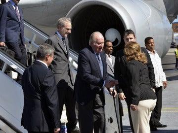 El Rey Juan Carlos I llega a La Habana