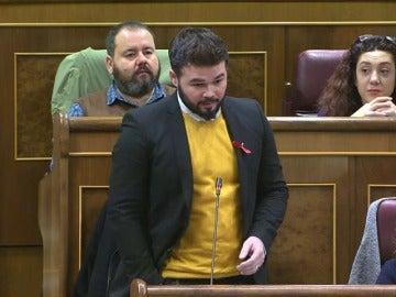 Frame 0.0 de: Rufián pregunta a Rajoy por el IVA del preservativo