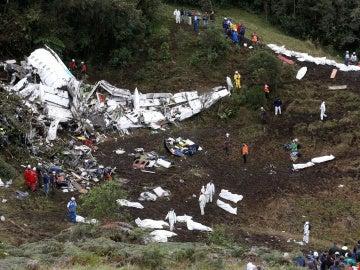 Imagen del lugar del accidente cerca de Medellín