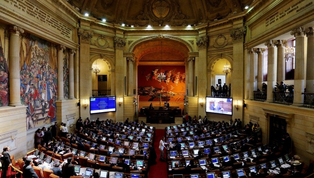 Vista general de una sesión en la Cámara de Representantes del Gobierno colombiano