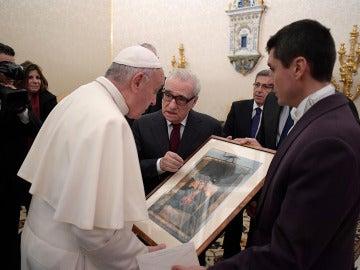 Martin Scorsese en su encuentro con el Papa Francisco