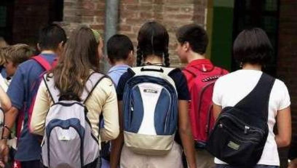 Alumnos a las puertas de un instituto