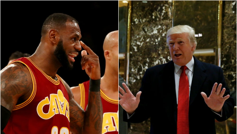LeBron James y Donald Trump