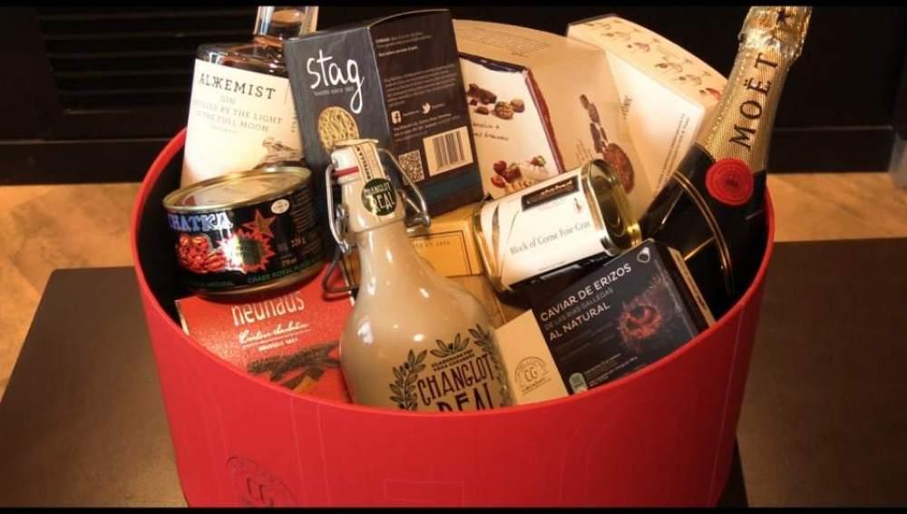 Imagen de archivo de una cesta de Navidad