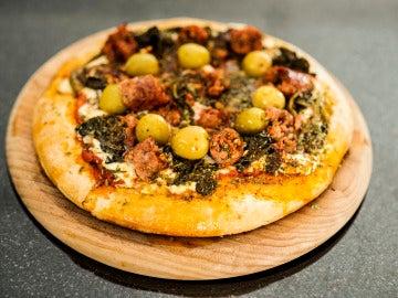 La pizza con aceituna gordal de Picsa