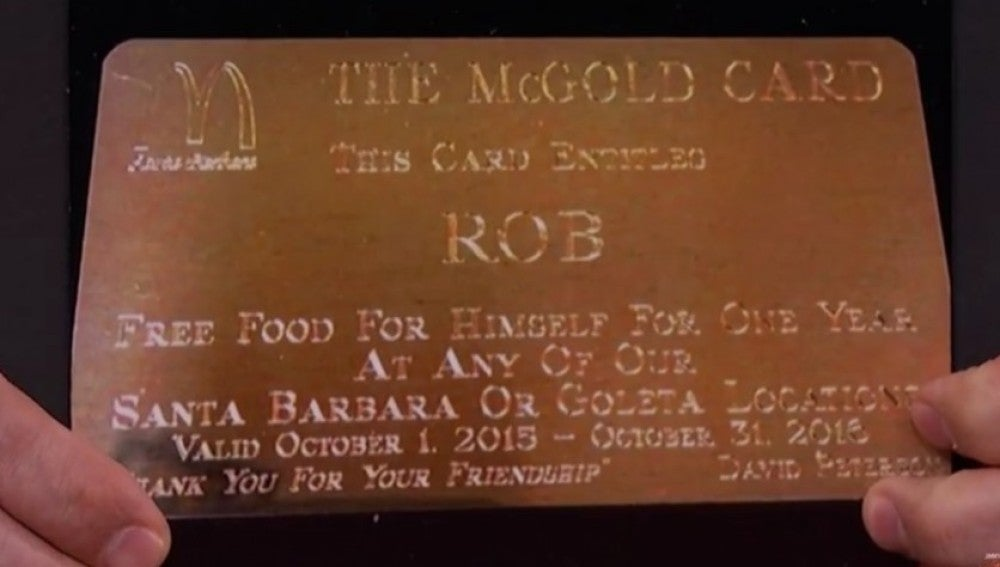 La tarjeta dorada de McDonald's