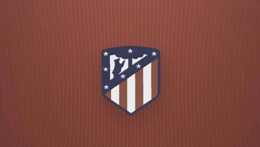 El nuevo escudo del Atlético de Madrid