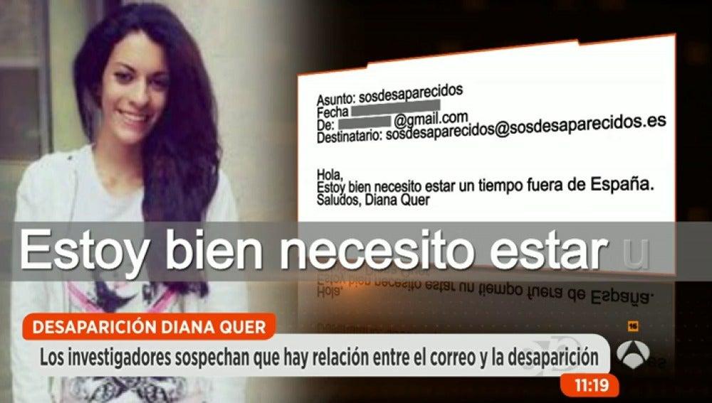 Antena 3 tv las novedades sobre el misterioso mensaje for Espejo publico diana quer