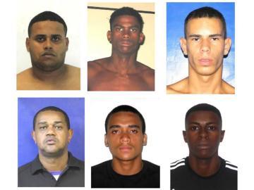 Combo de fotografías cedidas por la Policía de Río de Janeiro, de los sospechosos por la muerte de un turista italiano