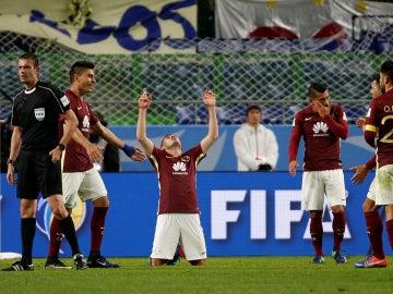 Los jugadores del América de México celebran su victoria en el Mundialito