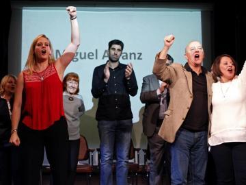 Miembros del PSOE en la presentación de plataforma 'Primarias y Congreso ya'