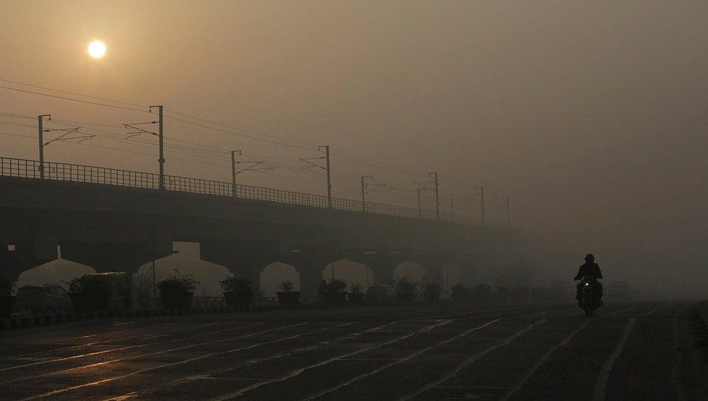 Contaminación en la ciudad india de Nueva Delhi