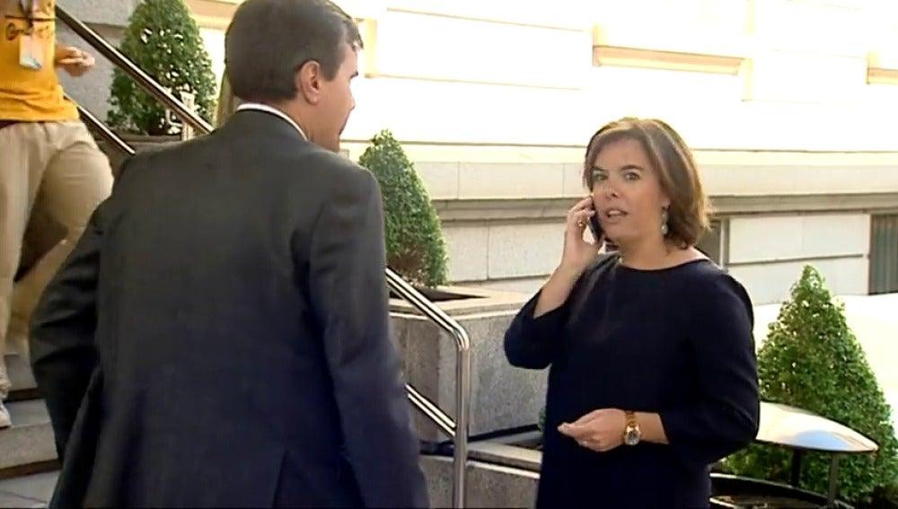 Frame 8.713309 de: La vicepresidenta pide a la cumbre independentista reflexión ante un nuevo fracaso