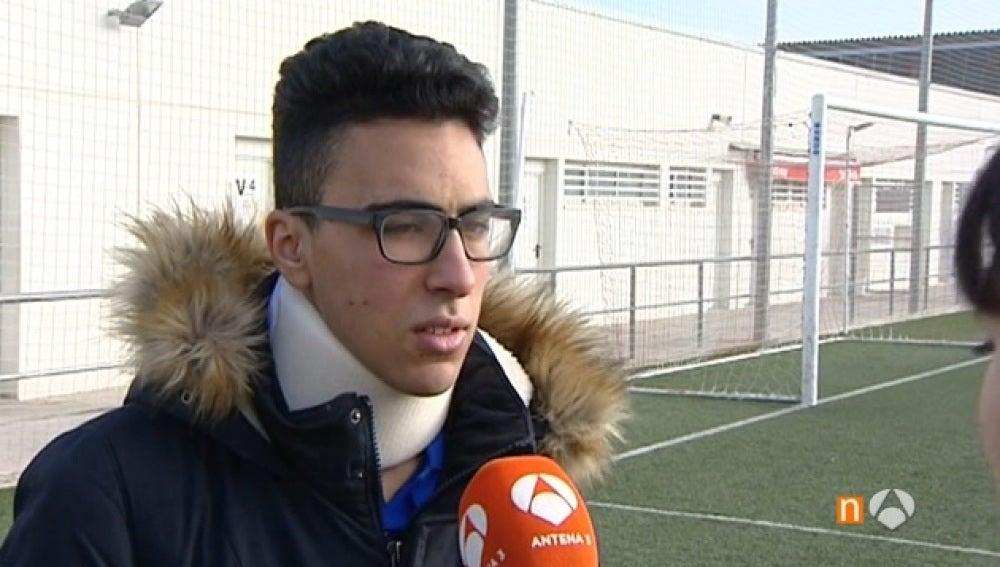Fahd Abbou, árbitro agredido durante un partido de fútbol