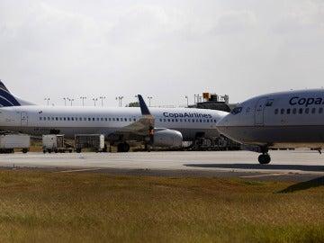 Dos aviones de Copa Airlines